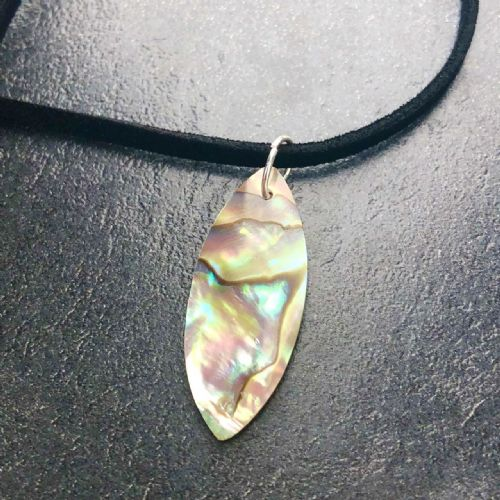 Paua Pendant Oval Long Small PN04-S-VL